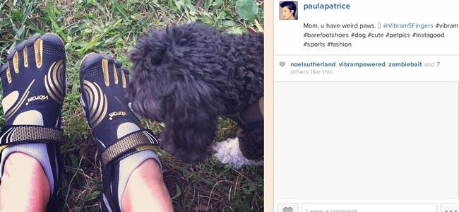 Paula Patrice Vibram FiveFingers Shoes with Milo